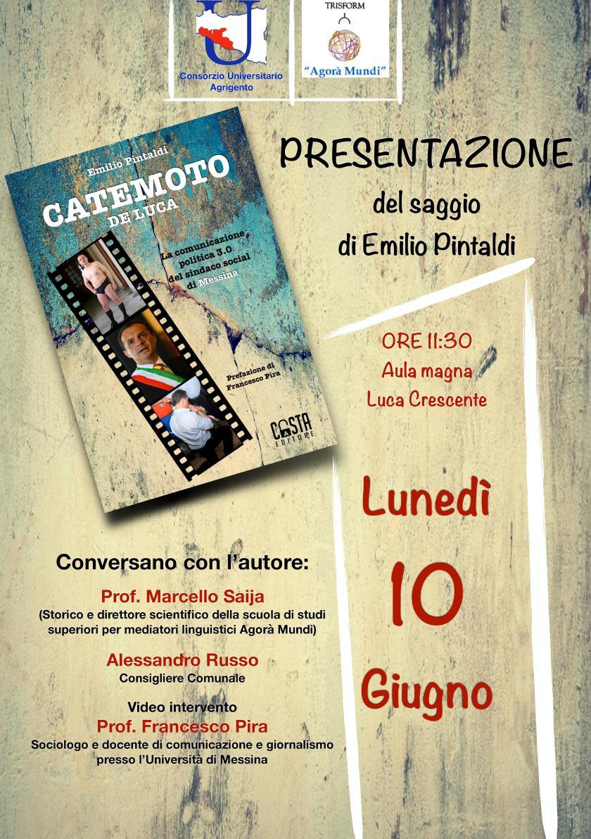 Locandina presentazione libro Catemoto De Luca